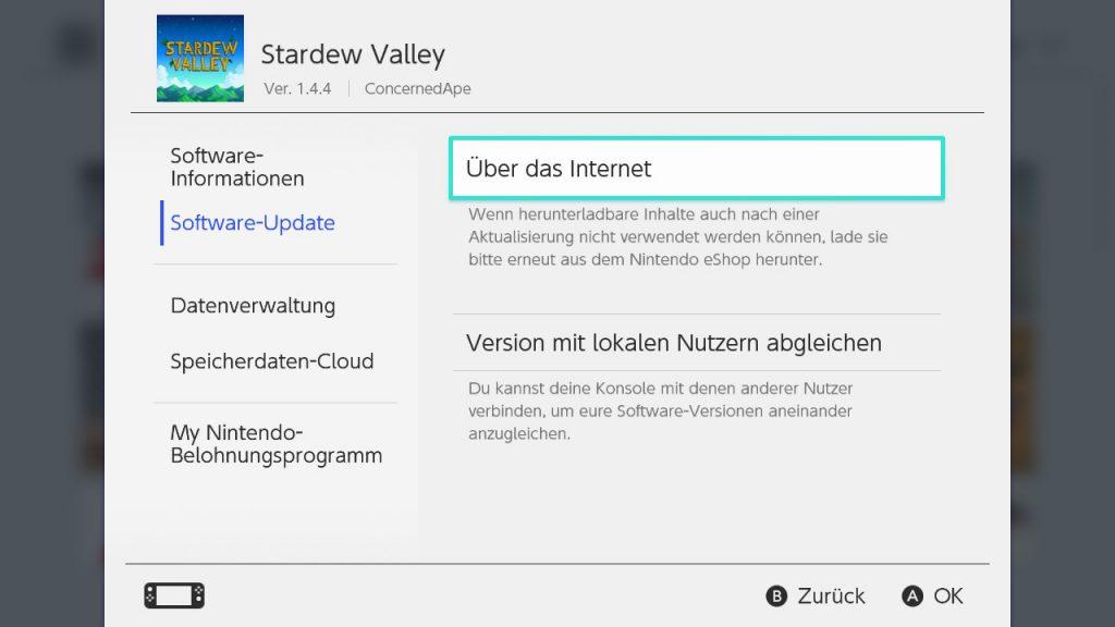 Stardew Valley 1-5 Update Screen