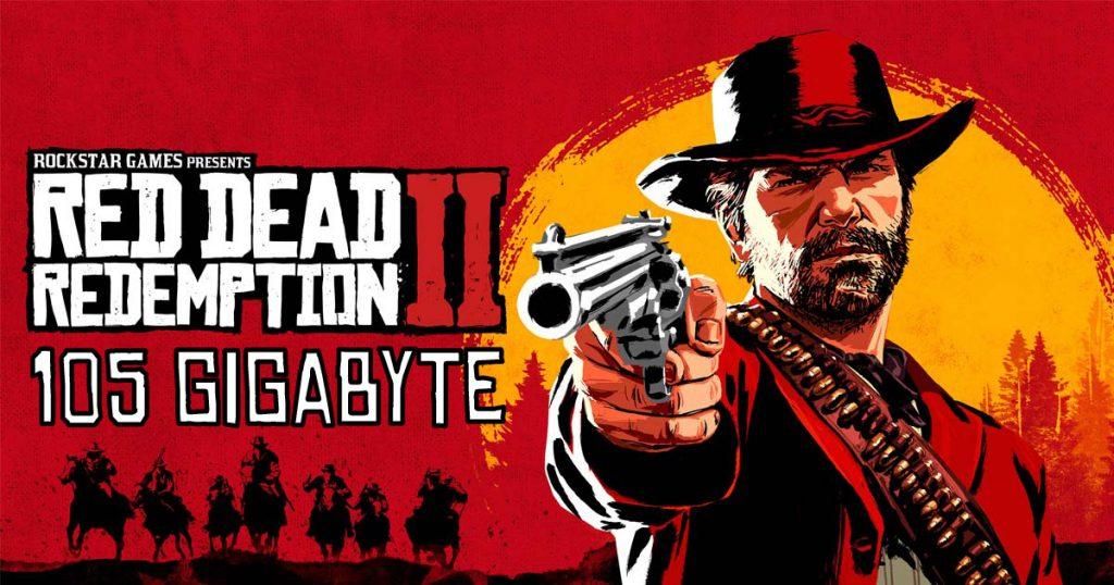 Zockerpuls - 105 Gigabyte Speicherplatz für Red Dead Redemption 2