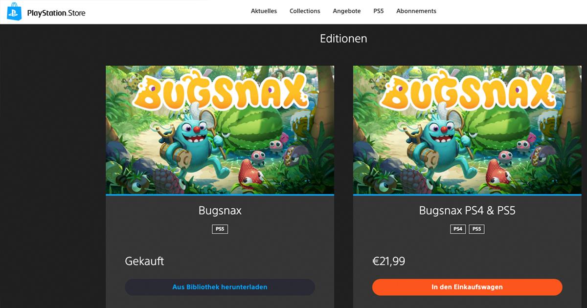 Zockerpuls - Bugsnax PlayStation Store