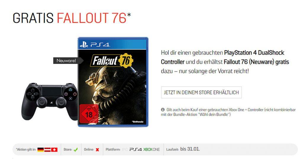 Zockerpuls - Elektronikgeschäfte versuchen verzweifelt Fallout 76 loszuwerden - GameStop