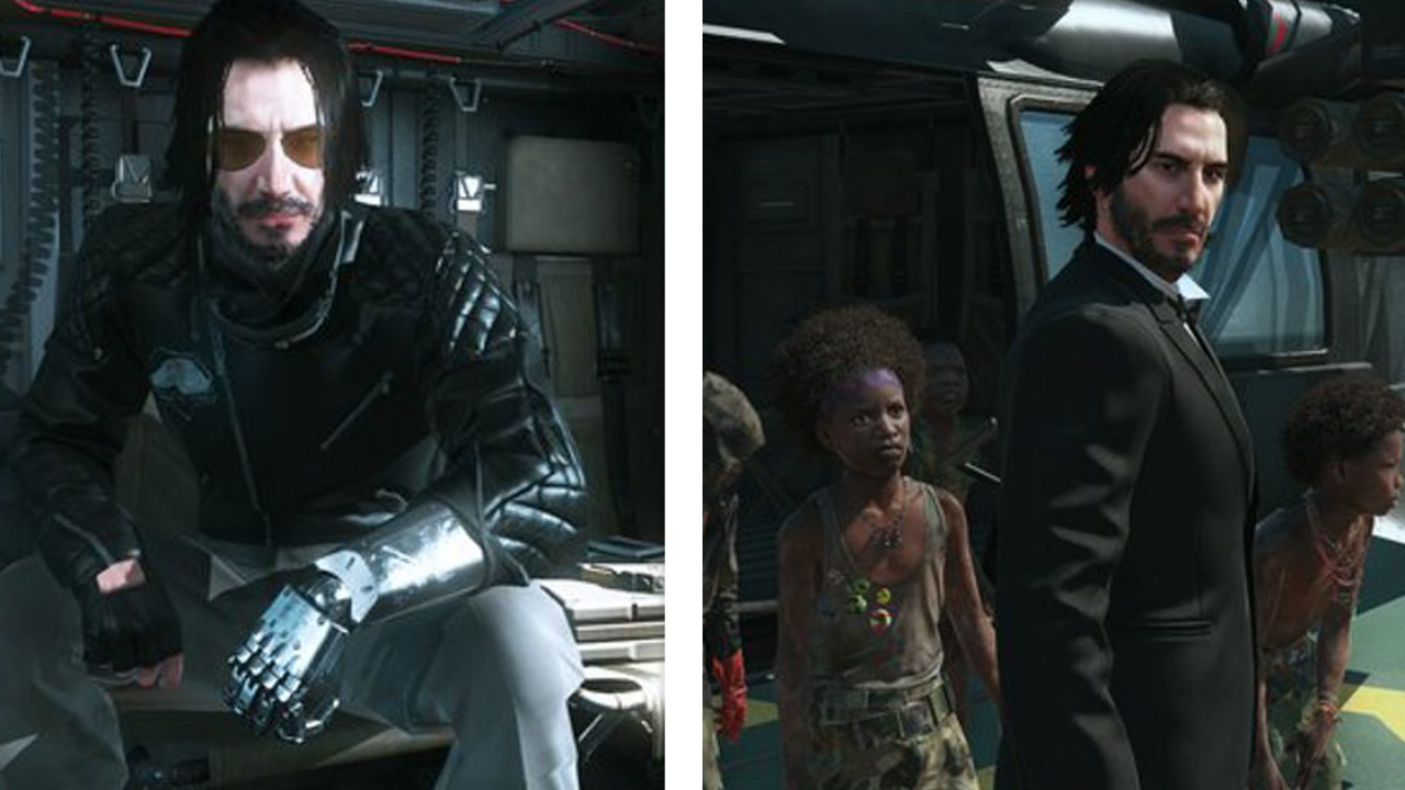 Keanu Reeves als Big Boss in Metal Gear Solid 5: The Phantom Pain