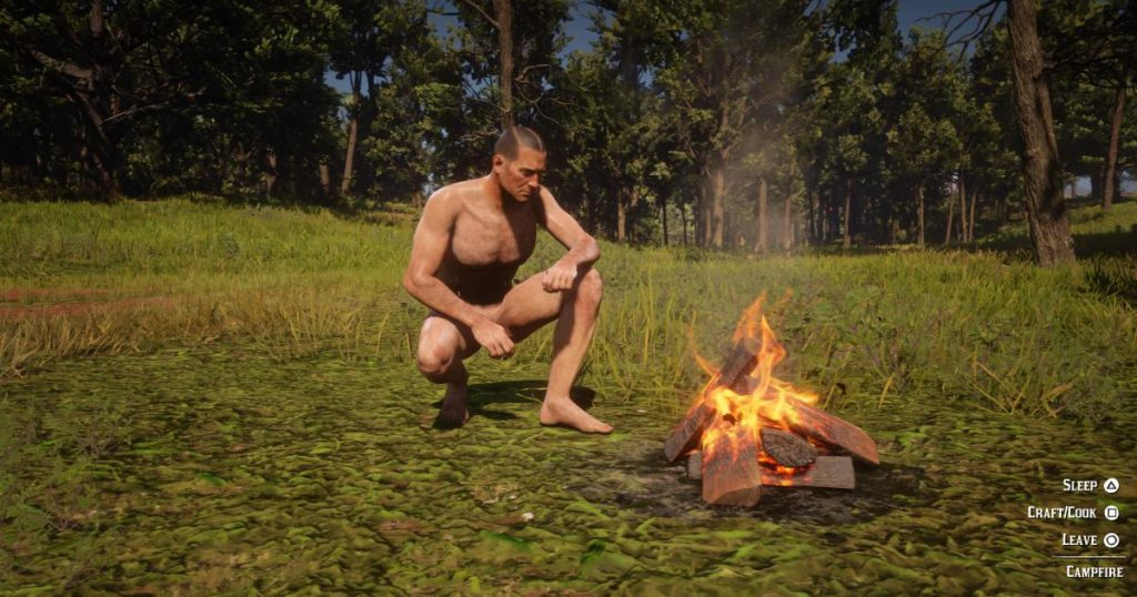 Zockerpuls - Nackt-Mod zeigt was Arthur Morgan zwischen den Beinen hat - Lagerfeuer