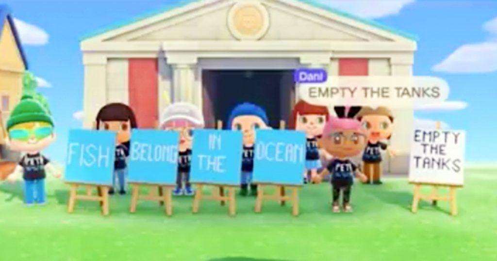 Zockerpuls - PETA demonstriert gegen Fischfang in Animal Crossing