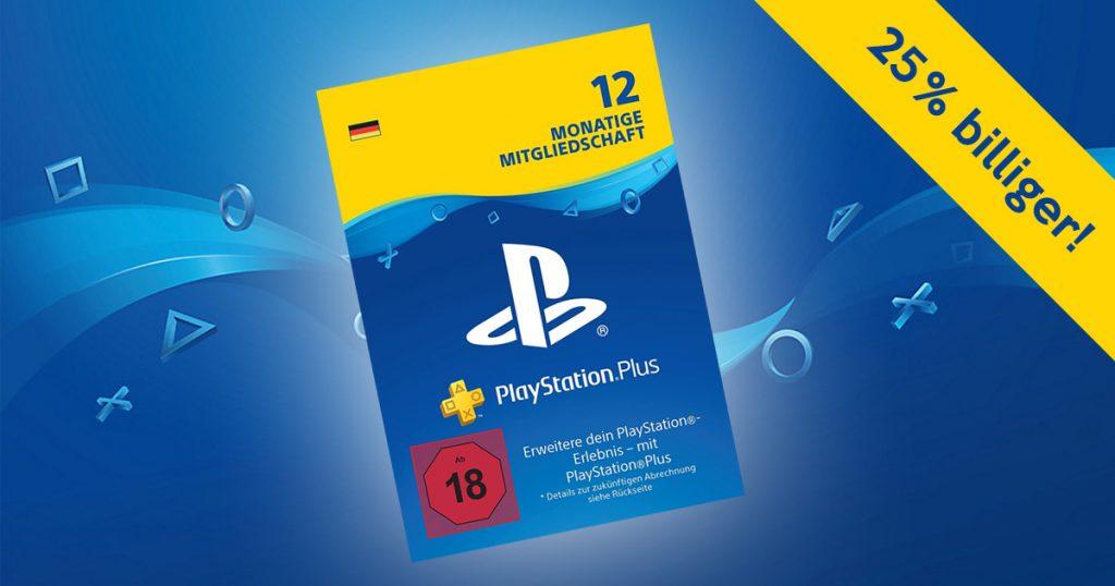 Zockerpuls - PlayStation-Plus für 12 Monate rund 25% billiger