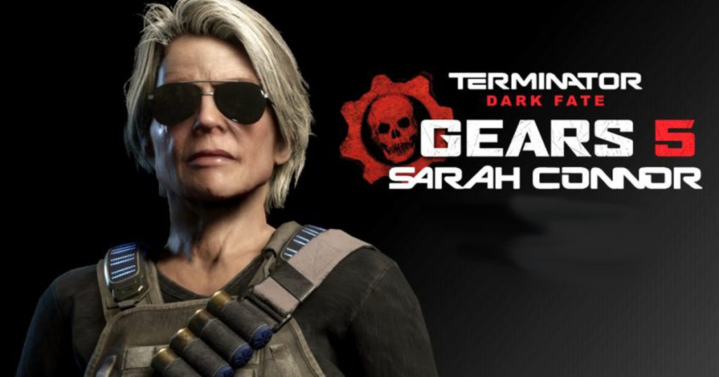 Zockerpuls - Sarah Connor aus Terminator Dark Fate in Gears of War 5