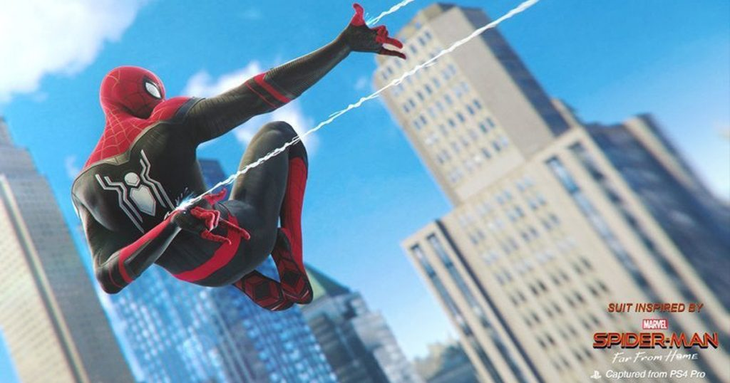 Zockerpuls - Spider-Man- Far From Home- Kostenloser Skin für PlayStation 4 - Rot