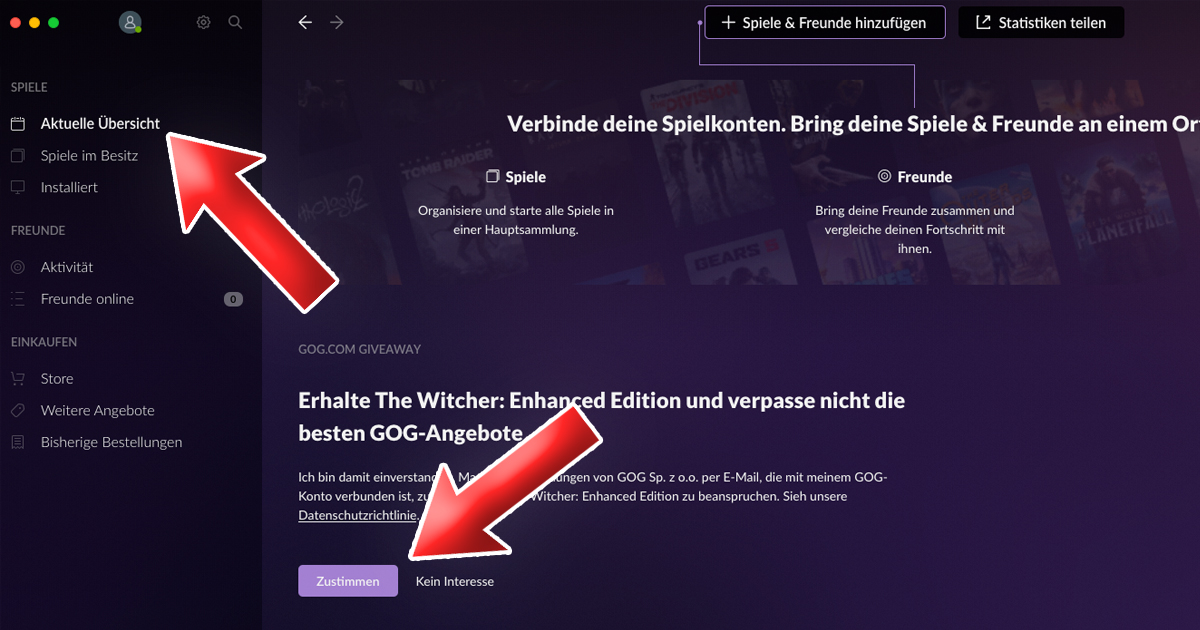 Zockerpuls - The Witcher- Enhanced Edition gratis für PC und Mac - Zustimmung