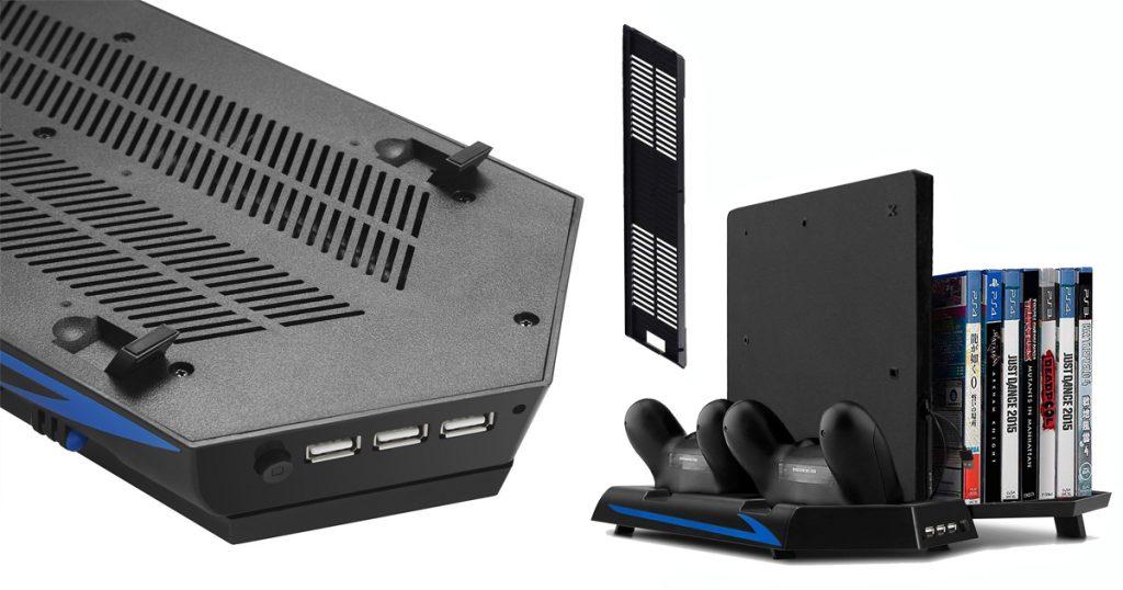 Was ist besser: PS4 waagerecht oder vertikal aufstellen? - Standfuß mit Lüfter