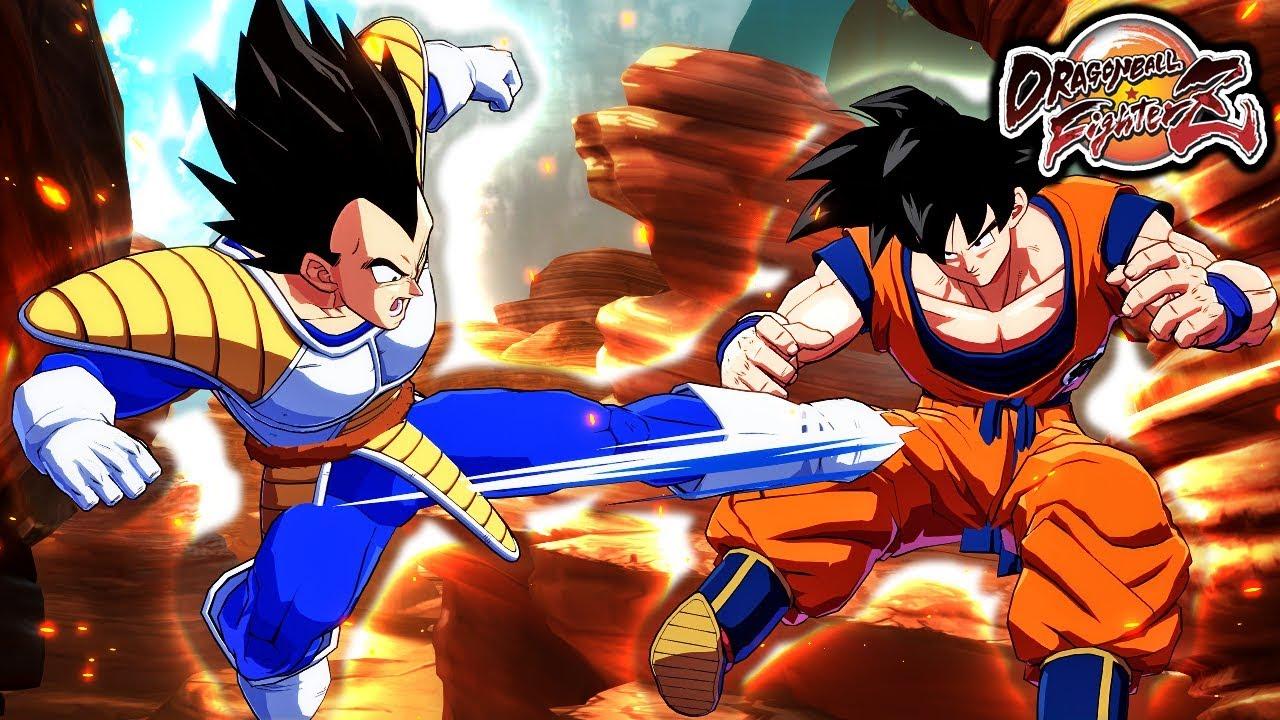 Dragon Ball Fighterz Son Goku Und Vegeta In Den Basis Versionen